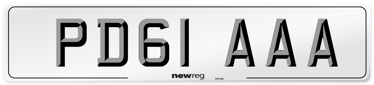 PD61 AAA Number Plate from New Reg