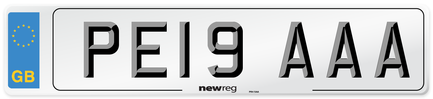 PE19 AAA Number Plate from New Reg