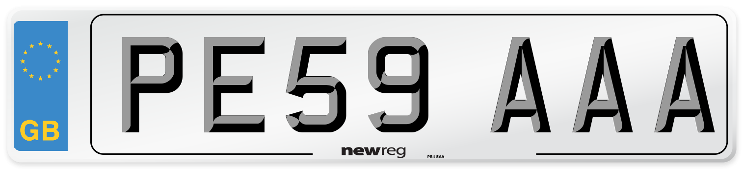 PE59 AAA Number Plate from New Reg