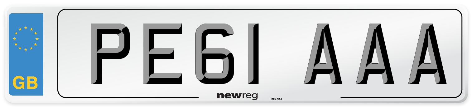 PE61 AAA Number Plate from New Reg