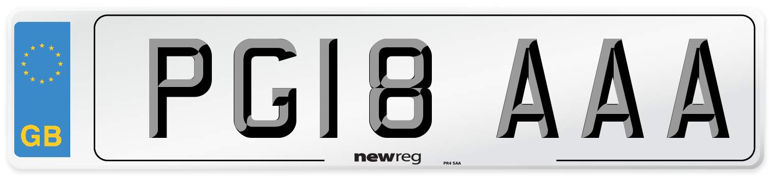 PG18 AAA Number Plate from New Reg