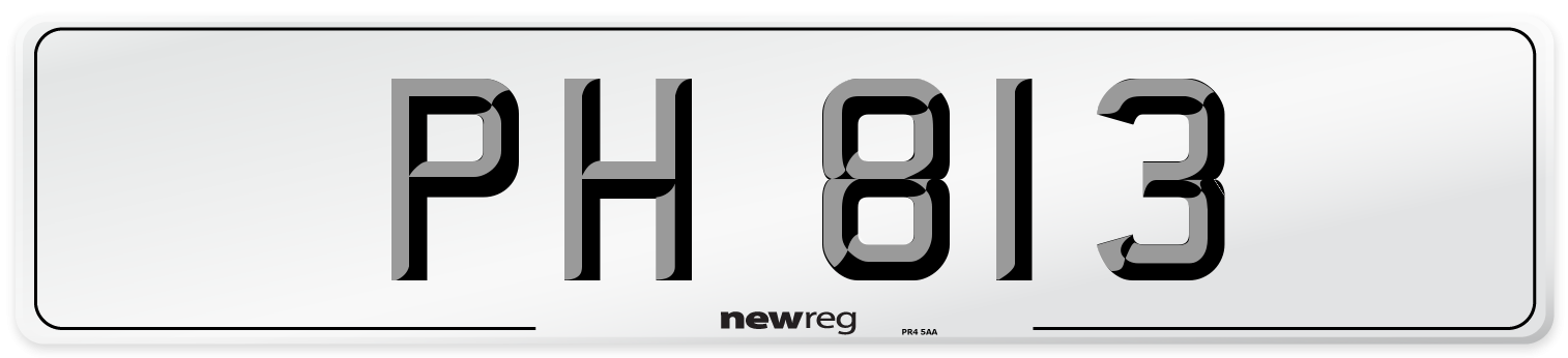 PH 813 Number Plate from New Reg