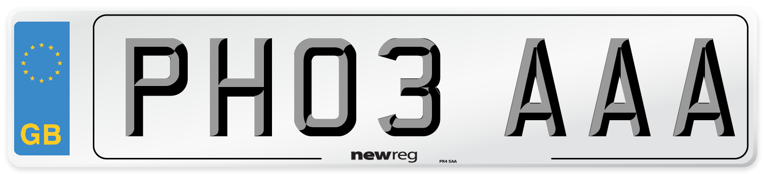 PH03 AAA Number Plate from New Reg