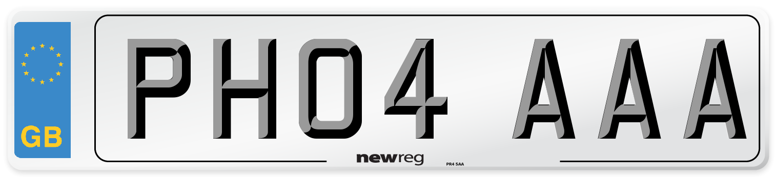 PH04 AAA Number Plate from New Reg