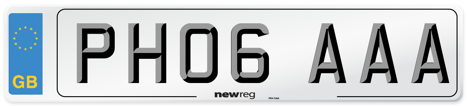 PH06 AAA Number Plate from New Reg