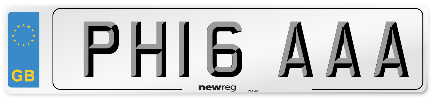 PH16 AAA Number Plate from New Reg