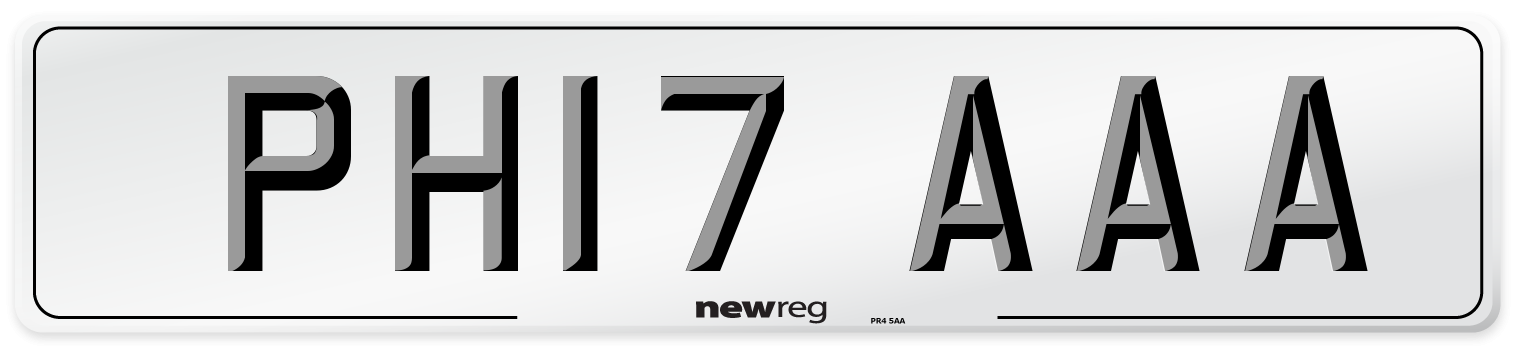 PH17 AAA Number Plate from New Reg
