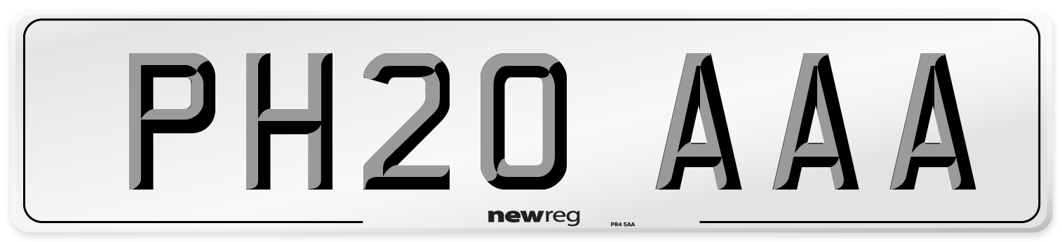 PH20 AAA Number Plate from New Reg