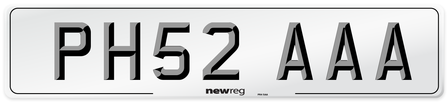 PH52 AAA Number Plate from New Reg