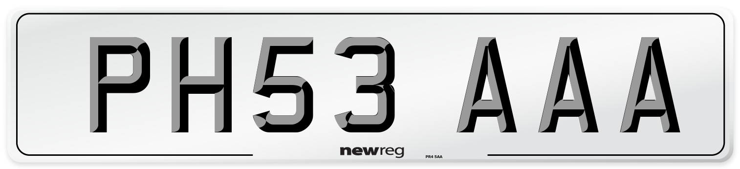PH53 AAA Number Plate from New Reg