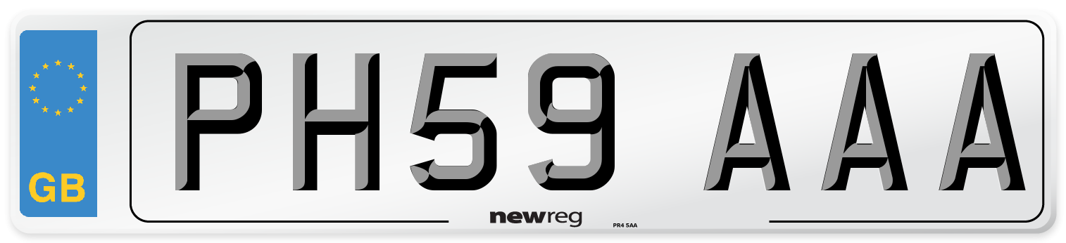 PH59 AAA Number Plate from New Reg