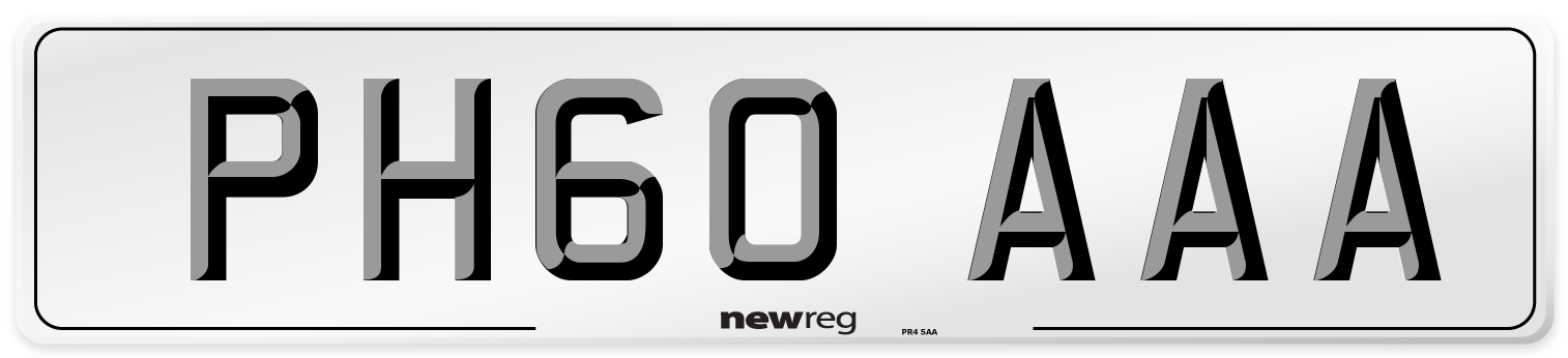 PH60 AAA Number Plate from New Reg