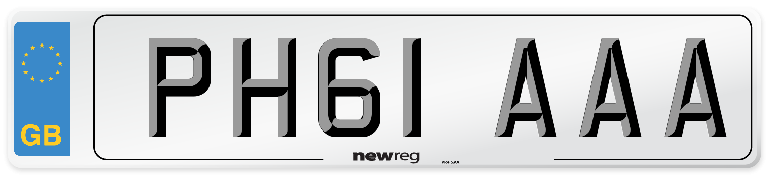 PH61 AAA Number Plate from New Reg