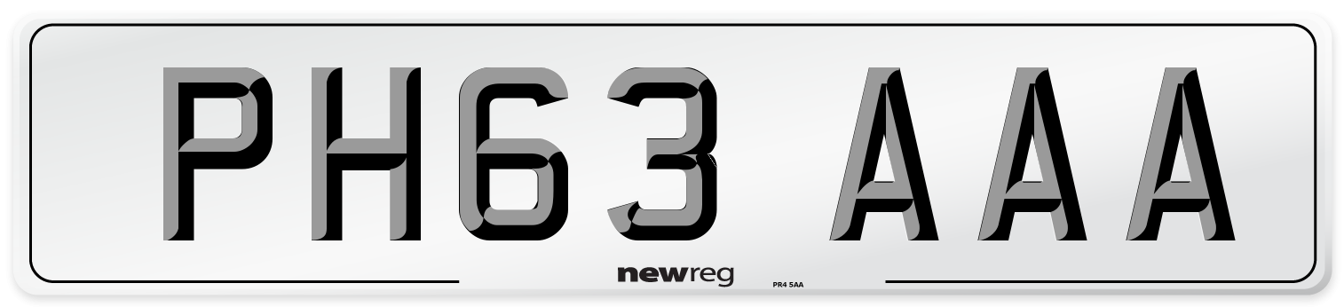 PH63 AAA Number Plate from New Reg