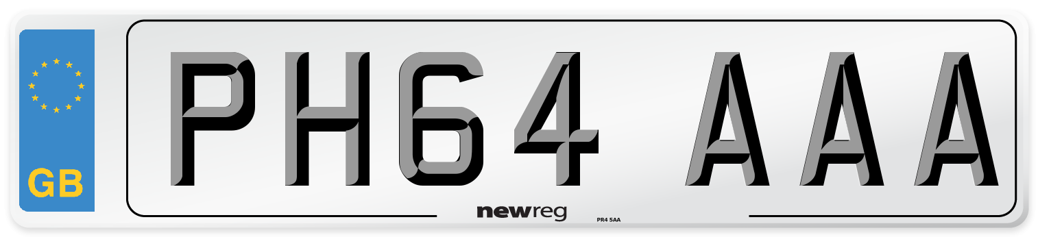 PH64 AAA Number Plate from New Reg