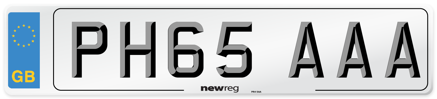 PH65 AAA Number Plate from New Reg