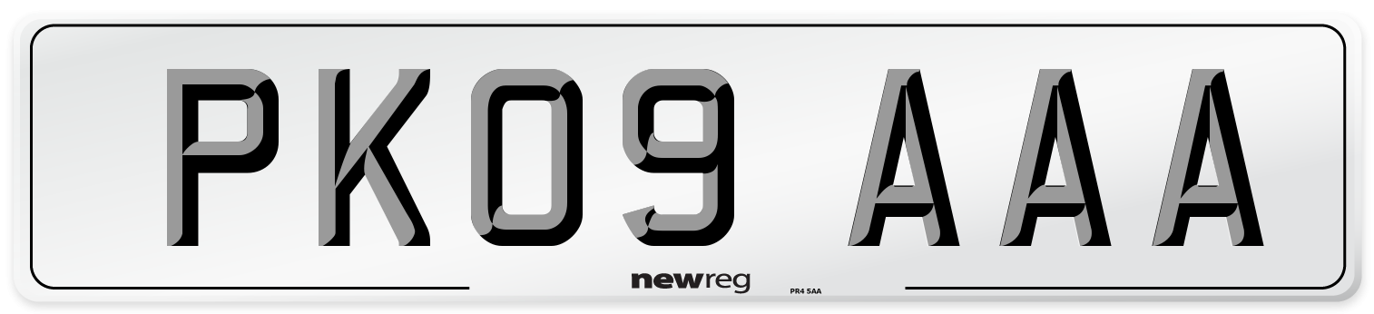PK09 AAA Number Plate from New Reg