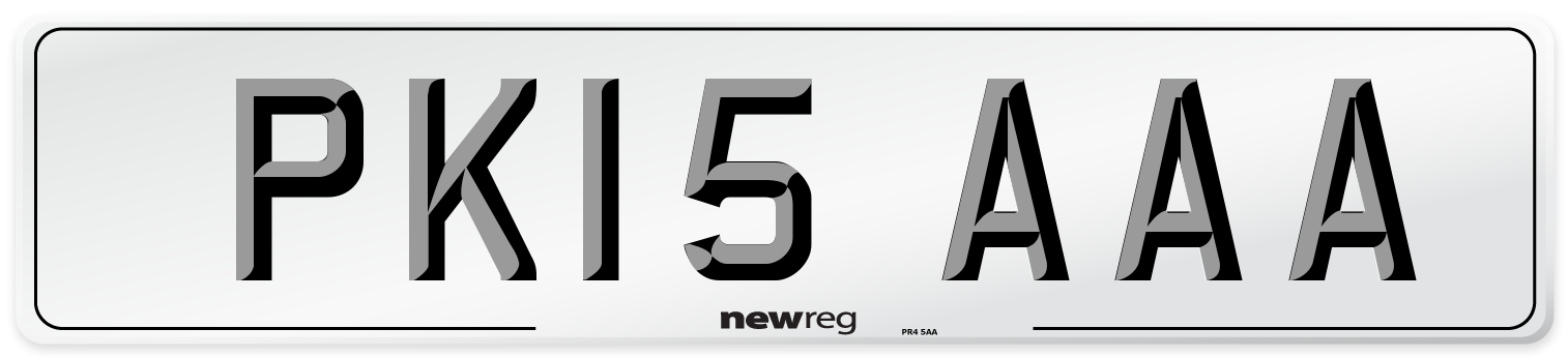 PK15 AAA Number Plate from New Reg