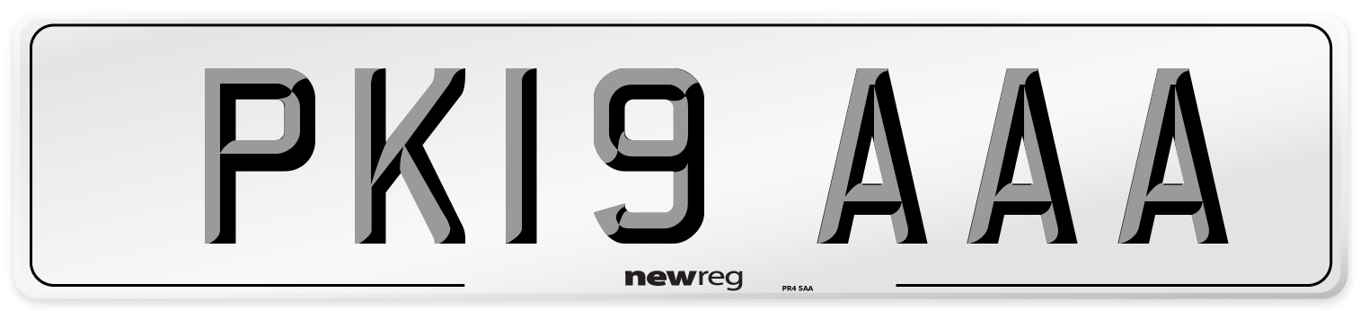 PK19 AAA Number Plate from New Reg