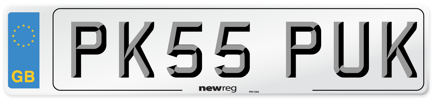 PK55 PUK Number Plate from New Reg