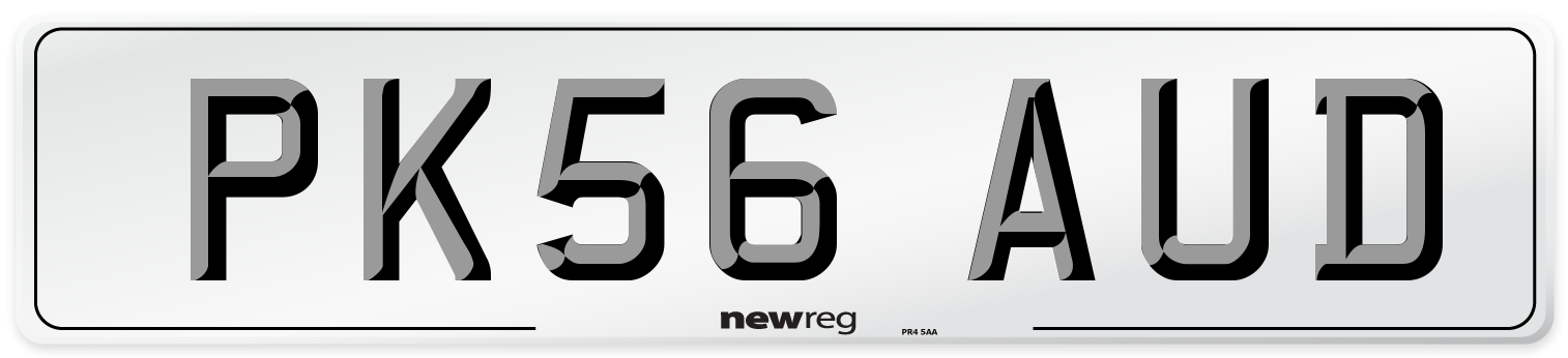 PK56 AUD Number Plate from New Reg