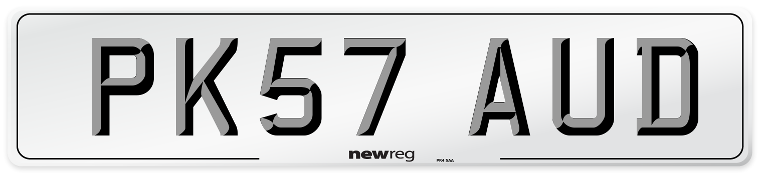 PK57 AUD Number Plate from New Reg