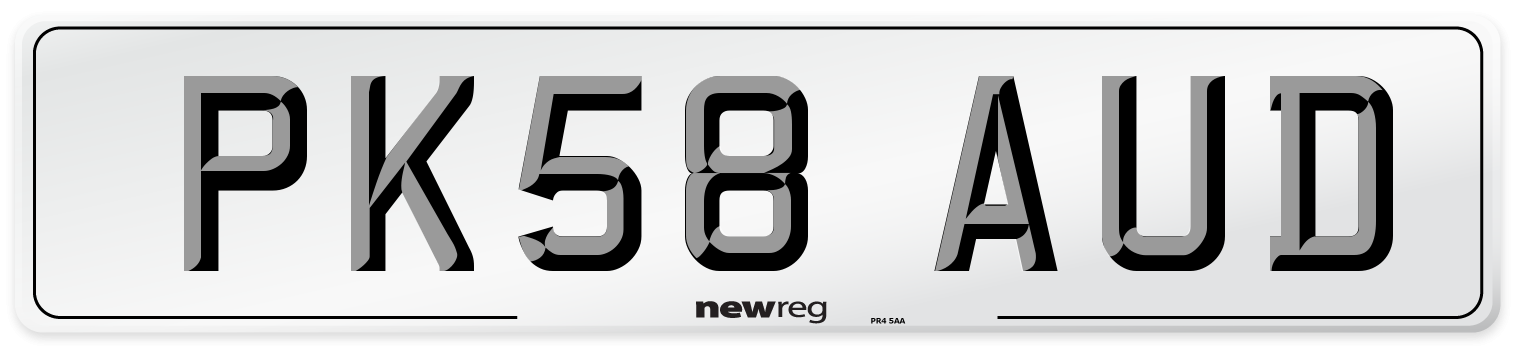 PK58 AUD Number Plate from New Reg