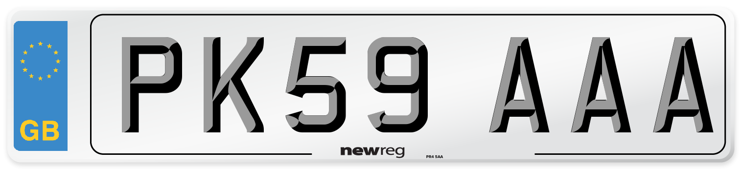 PK59 AAA Number Plate from New Reg