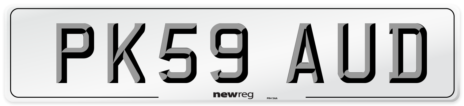 PK59 AUD Number Plate from New Reg