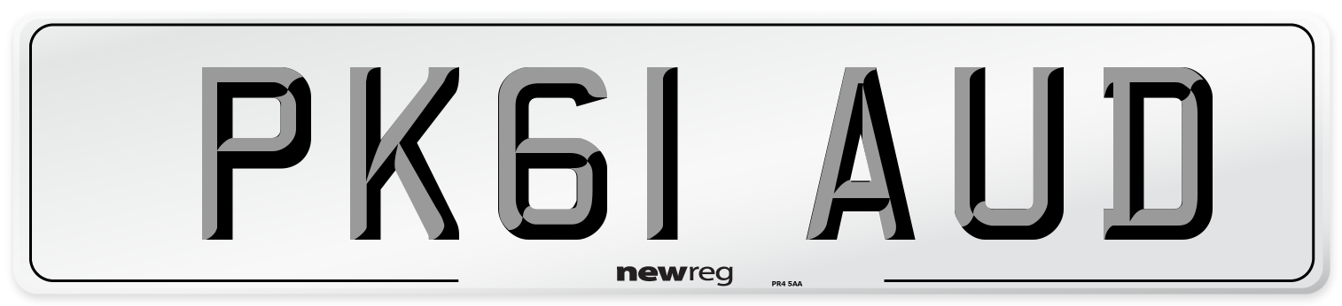 PK61 AUD Number Plate from New Reg