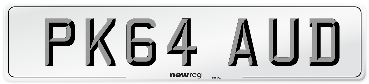 PK64 AUD Number Plate from New Reg