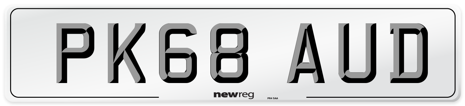 PK68 AUD Number Plate from New Reg