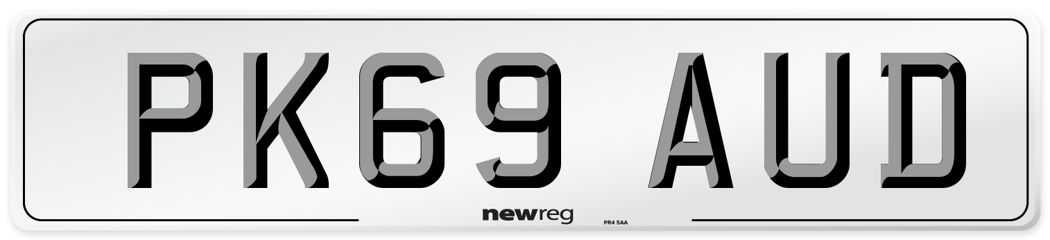 PK69 AUD Number Plate from New Reg