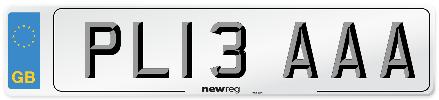 PL13 AAA Number Plate from New Reg