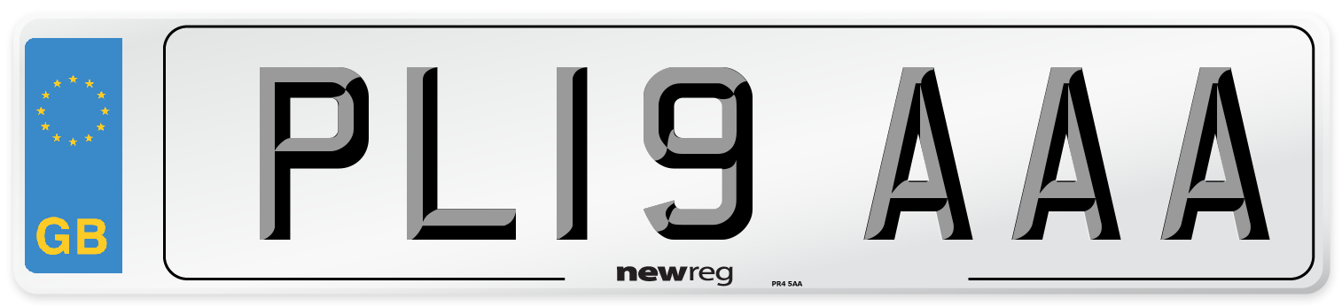 PL19 AAA Number Plate from New Reg