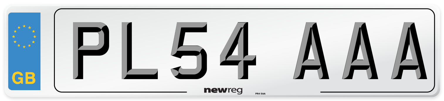 PL54 AAA Number Plate from New Reg