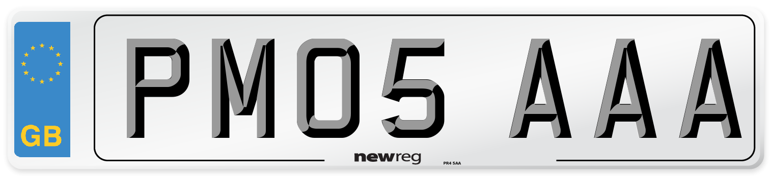 PM05 AAA Number Plate from New Reg