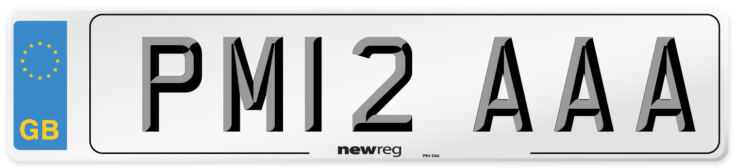 PM12 AAA Number Plate from New Reg