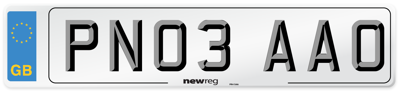 PN03 AAO Number Plate from New Reg