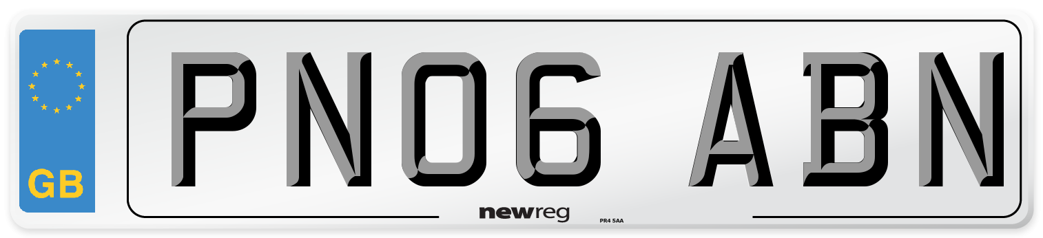 PN06 ABN Number Plate from New Reg