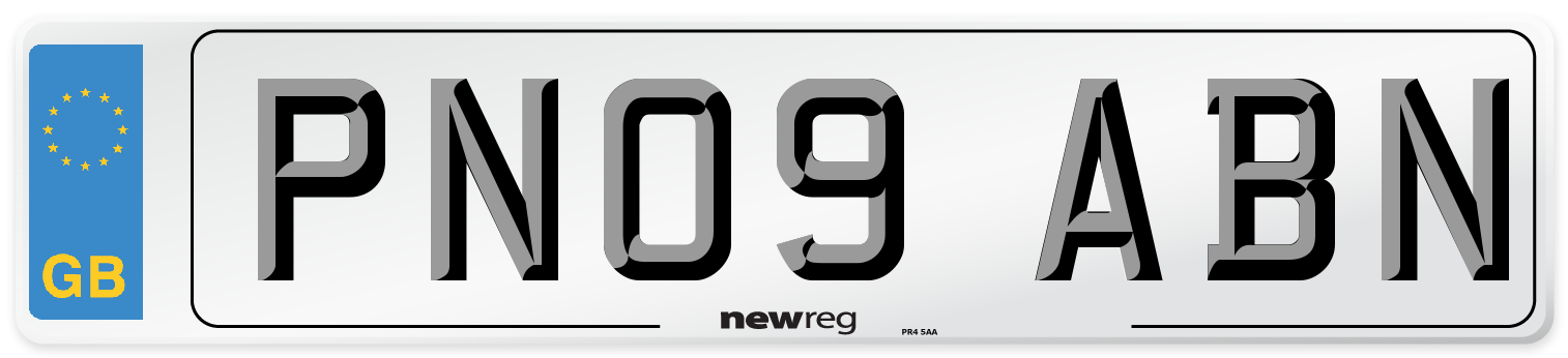 PN09 ABN Number Plate from New Reg