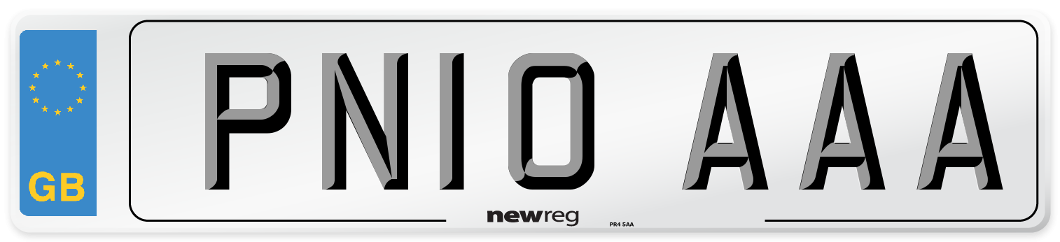 PN10 AAA Number Plate from New Reg