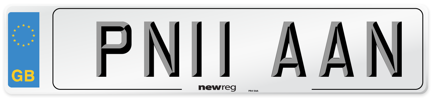 PN11 AAN Number Plate from New Reg
