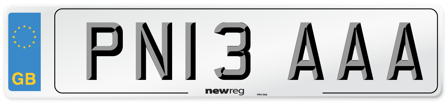 PN13 AAA Number Plate from New Reg