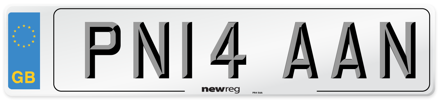 PN14 AAN Number Plate from New Reg