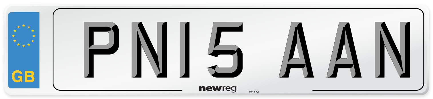 PN15 AAN Number Plate from New Reg