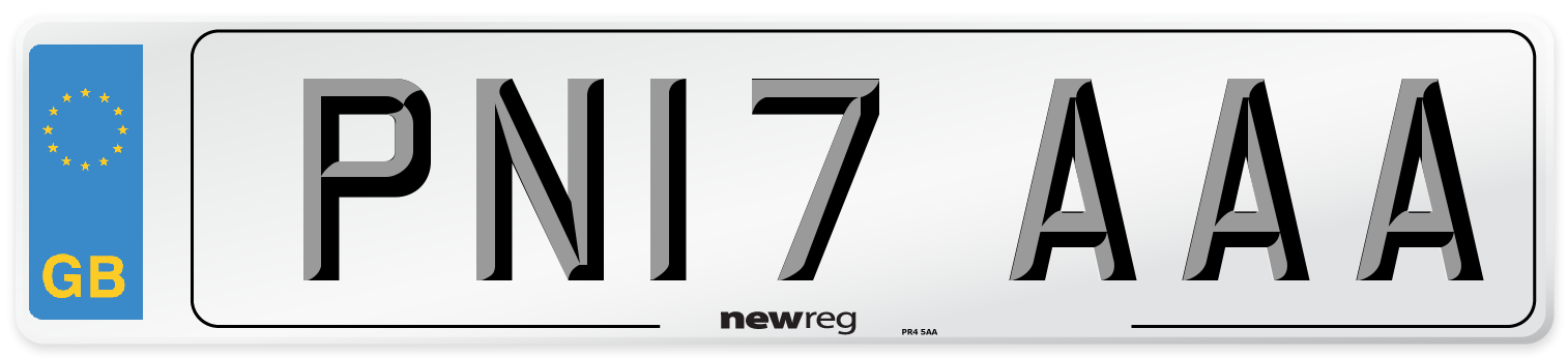 PN17 AAA Number Plate from New Reg