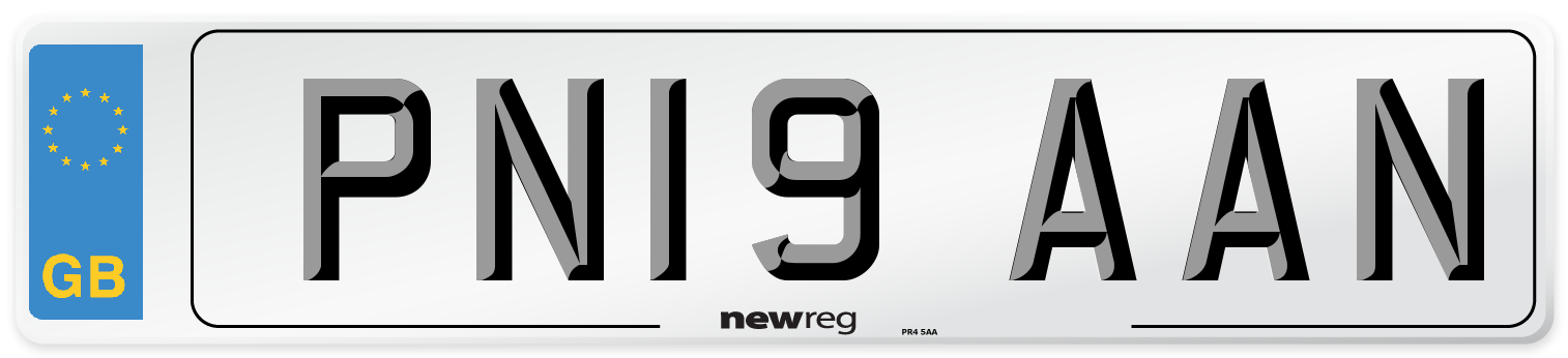 PN19 AAN Number Plate from New Reg