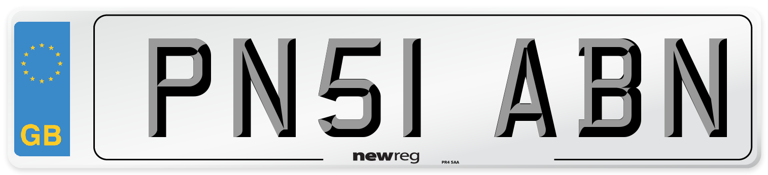 PN51 ABN Number Plate from New Reg