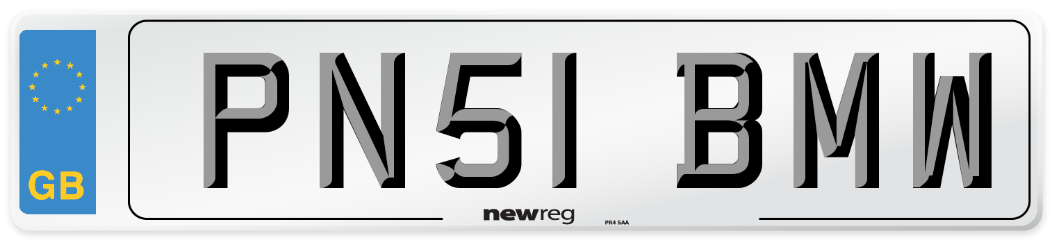 PN51 BMW Number Plate from New Reg